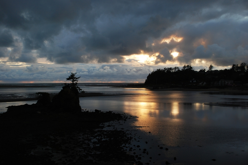 Siletz Bay Sunset, Oregon