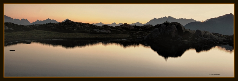 Artist Point And Tarns At Sunrise