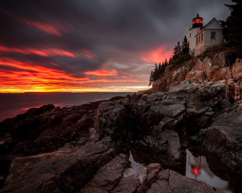 Bass Harbor Lighthouse After The Storm