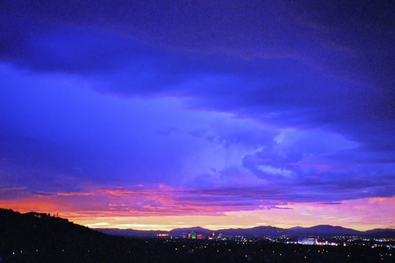 Sunset Storme Couds Over Reno