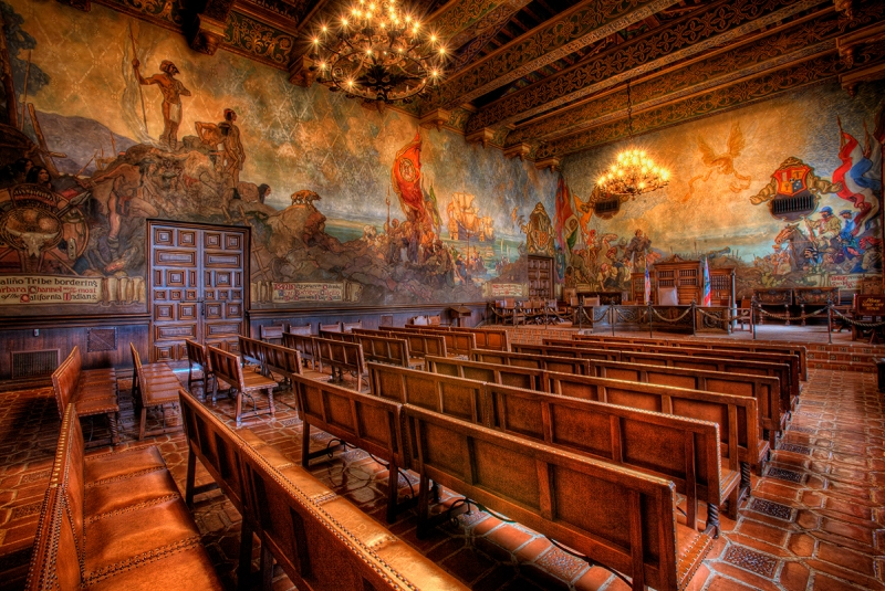Mural Room, Santa Barbara Courthouse