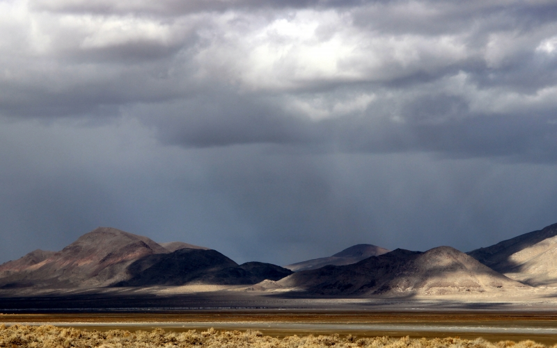 Rain Clouds In The Desert