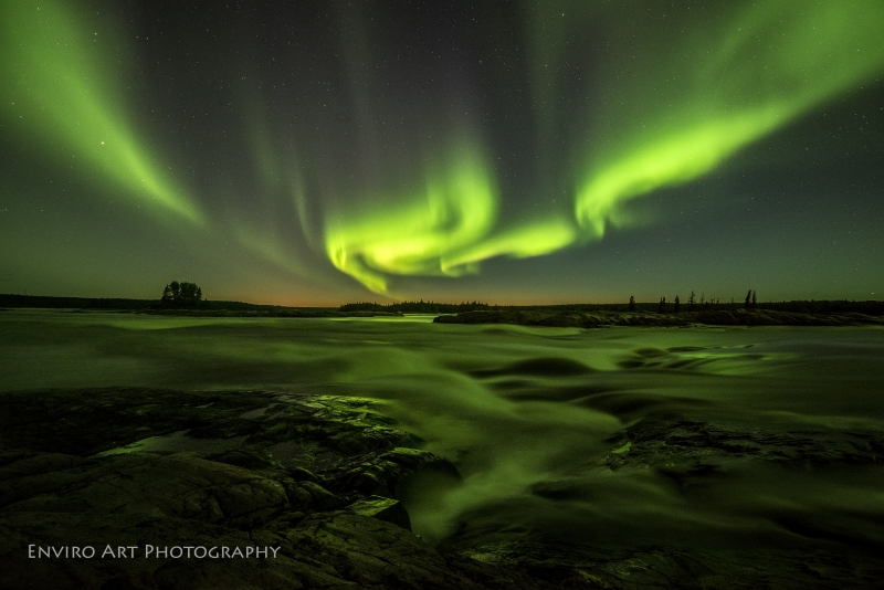 Aurora  Sunset Stars &  River Rapids