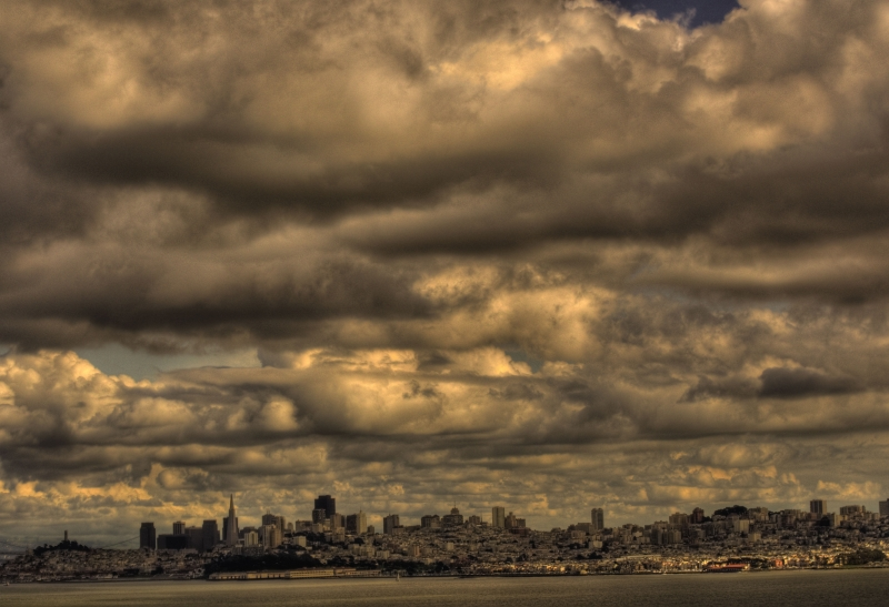 San Francisco With Clouds