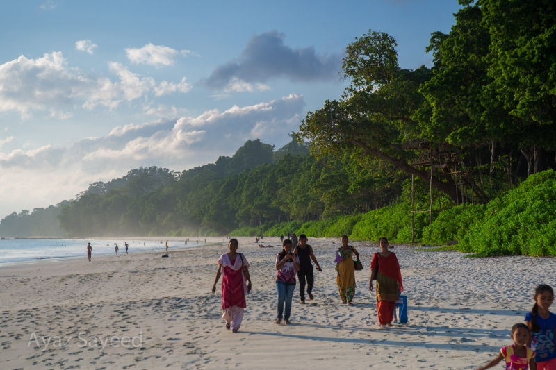 Locals Strolling On The Beach – Andaman Islands, India