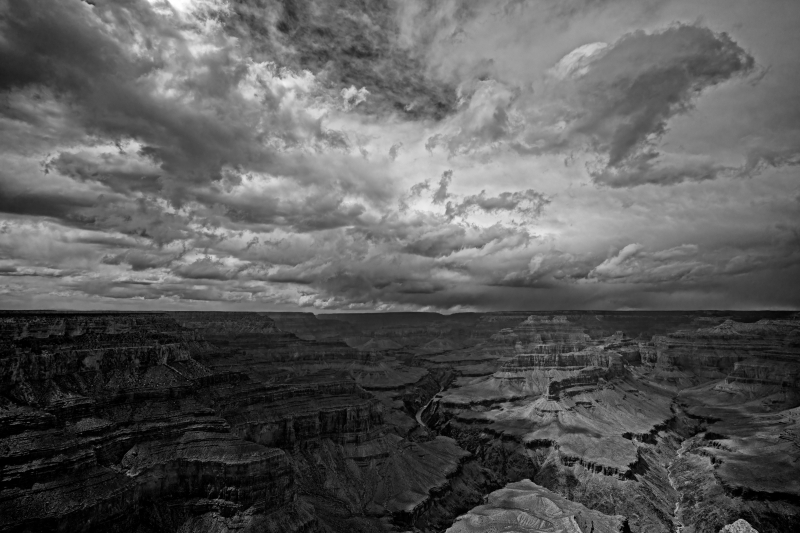 Grand Canyon And Clouds