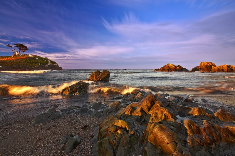 California, Crescent City, Battery Point Lighthouse, Sunrise