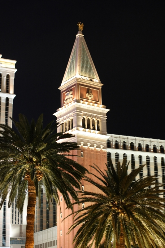 Venetian Hotel At Night