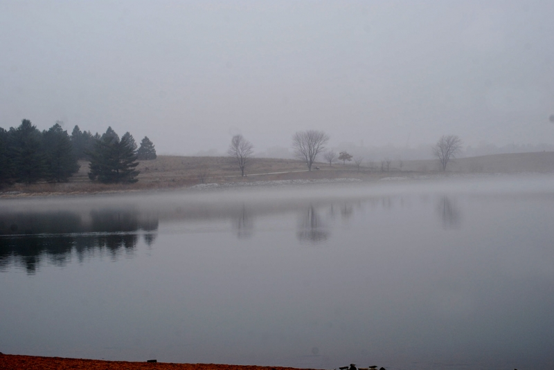 Fog On Holmes Lake