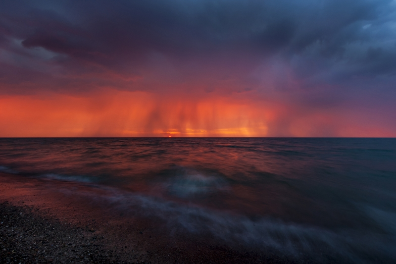 Evening Storm Over Lake Michigan