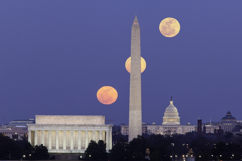 Three Moons Over Washington Dc