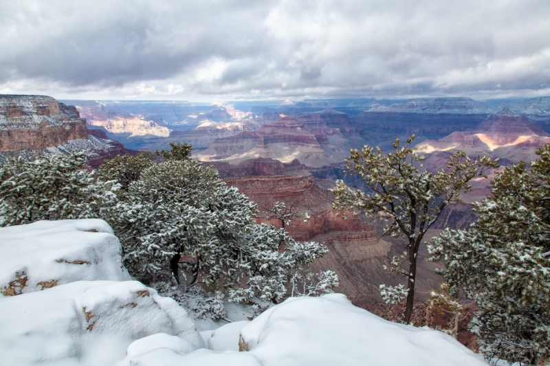 Winter At The South Rim