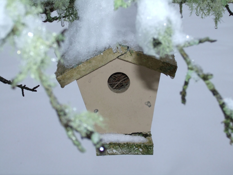 Snow Covered Birdhouse
