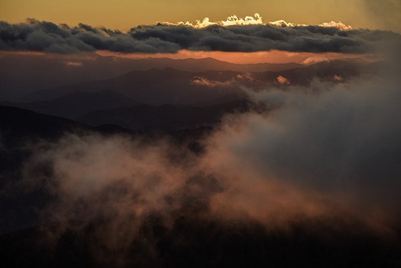 Low Clouds Over The Smokies