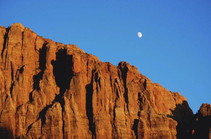 Moon Rising Over Zion
