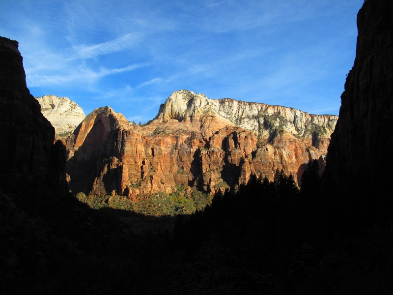 Sunrise In Zion Canyon