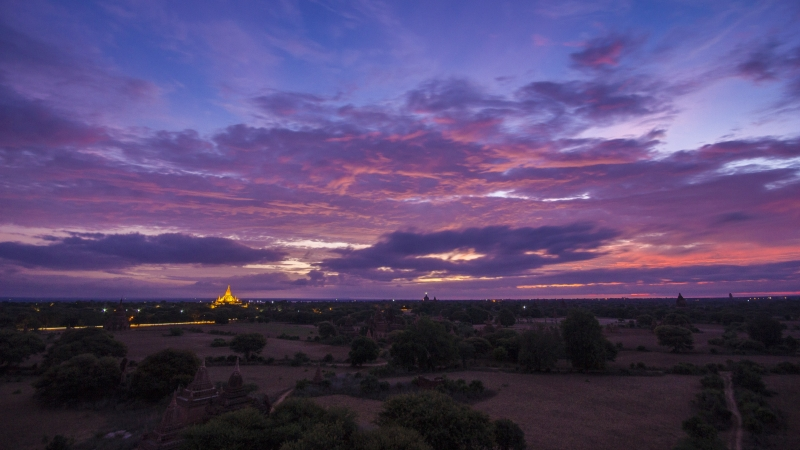 Bagan At Daybreak