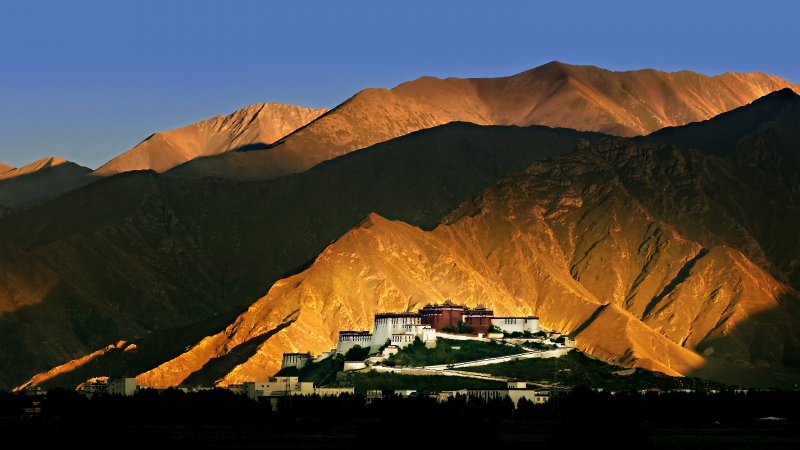 Potala Palace Sunset
