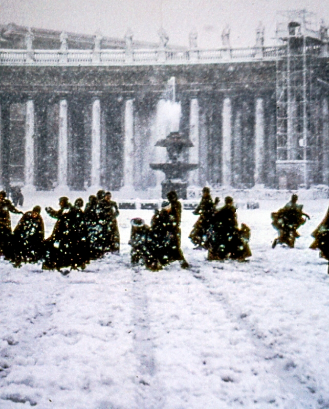 Vatican Snowball Fight