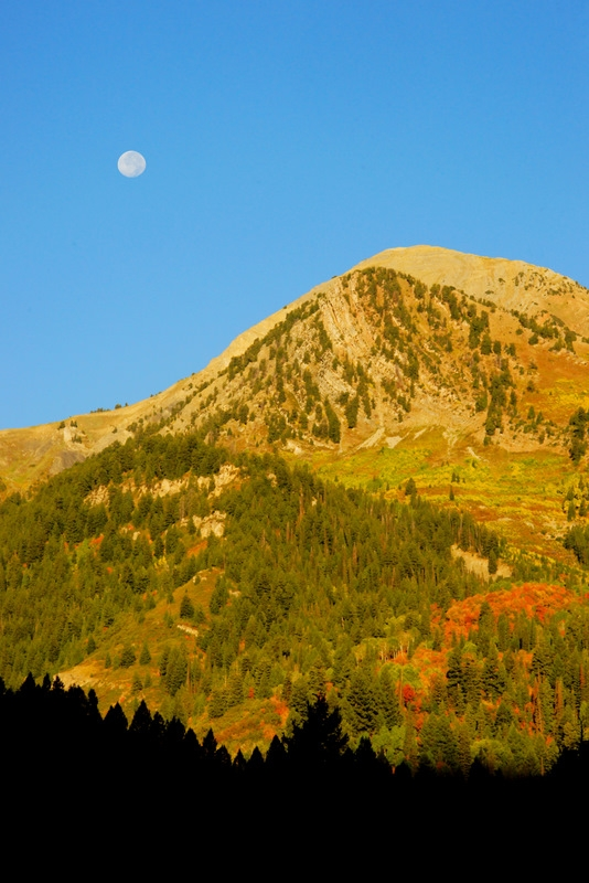 Moon Set Over The Wasatch