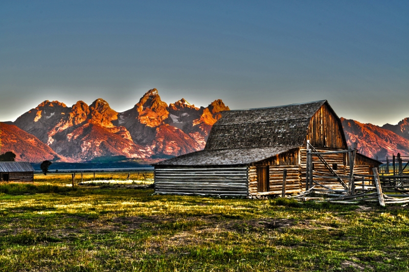 Tetons From Mormon Barn