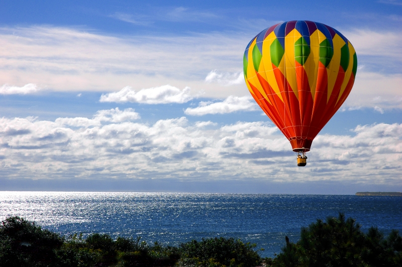 Balloon Over Ocean