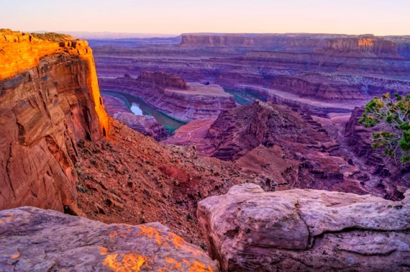 Canyonlands National Park Sunset Overlooking The Colorado River