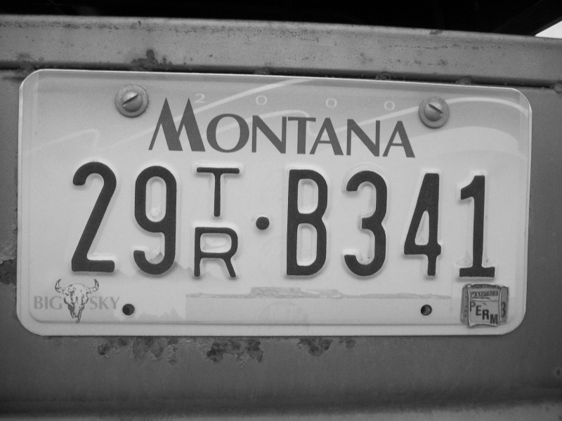 An Old License Plate