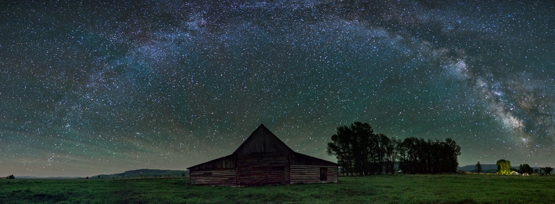 T.a. Moulton Barn Under The Milky Way