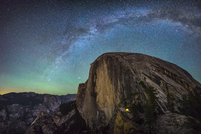 Milky Way Over Half Dome From Diving Board
