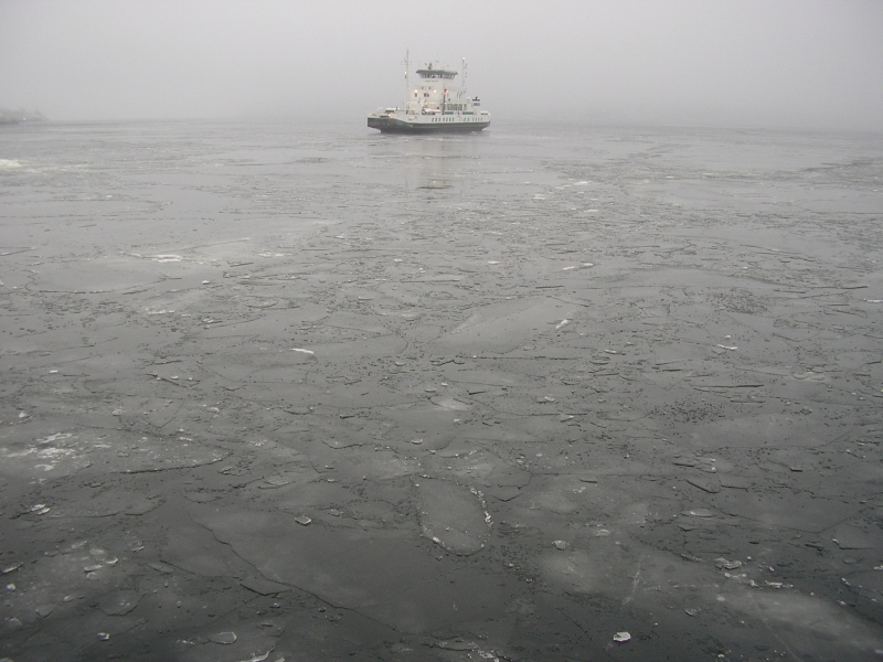 Solitary Boat In Iced Sea