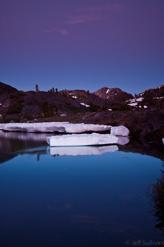 Sierra Nevada Iceberg At Dusk