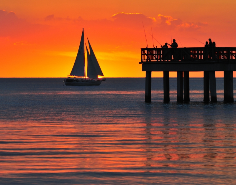 Sailing Into The Sunset, Fort Myers Beach