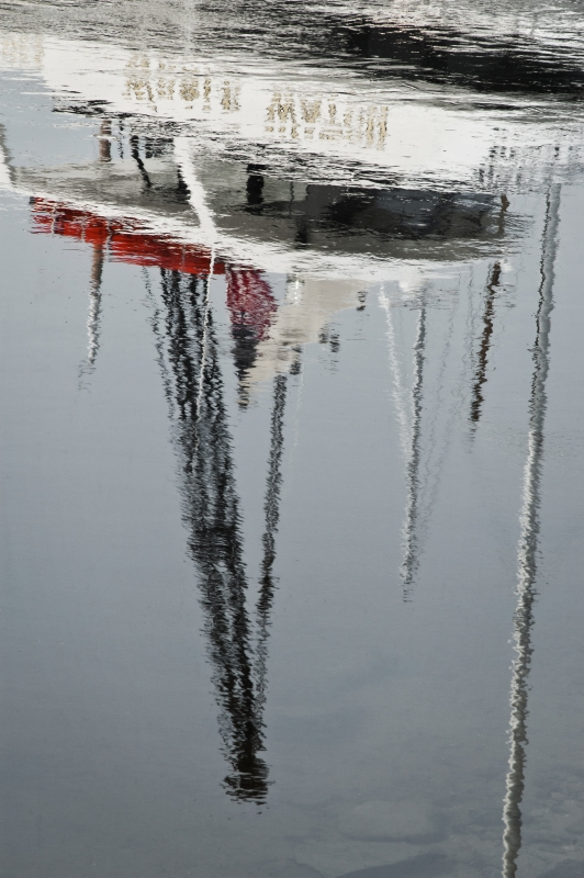 Boat And Mast Reflection