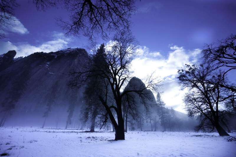 Yosemite Valley Winter Sunset