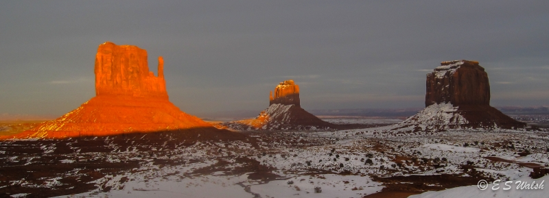 Monument Valley Winter Sunset