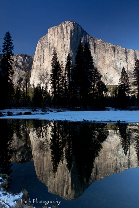 Winter Reflection, El Capitan (yosemite)