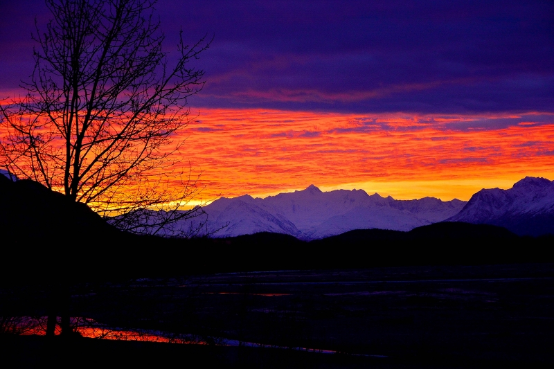 Matanuska River Sunset
