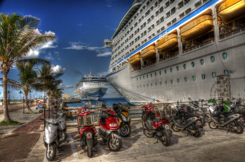 Cruise Ships At Dockyard