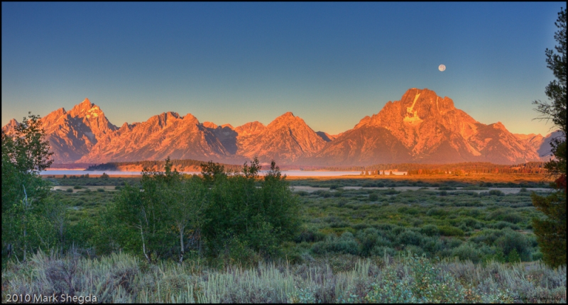 Teton Sunrise-moonset