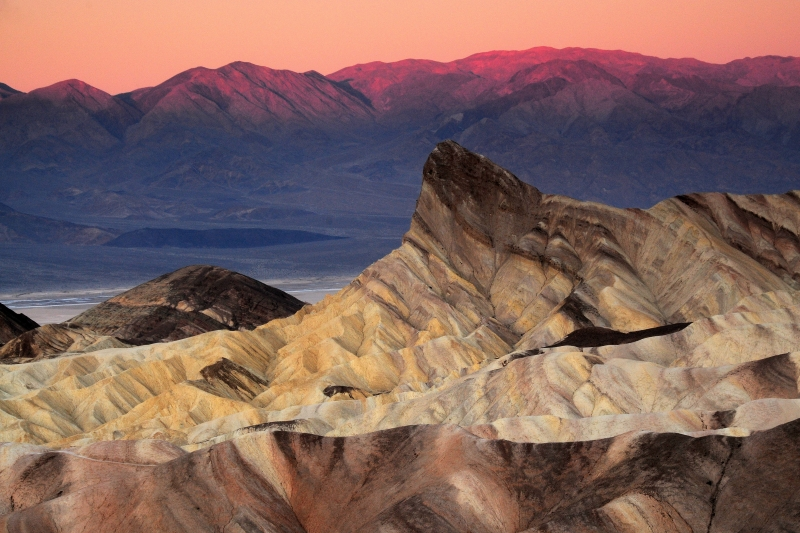 Sunrise On Manly Beacon From Zabriskie Point