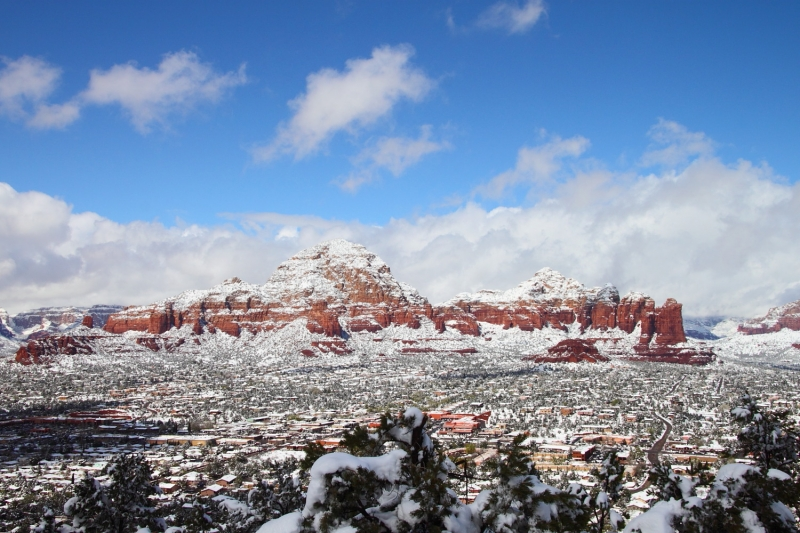 Wintry Thunder Mountain – Sedona