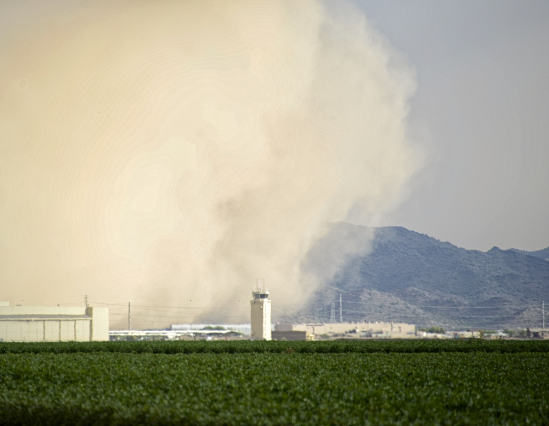 Dust Storm Cloud Over Goodyear Airport