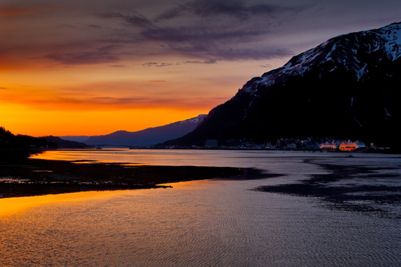 Last Sun At Juneau Port