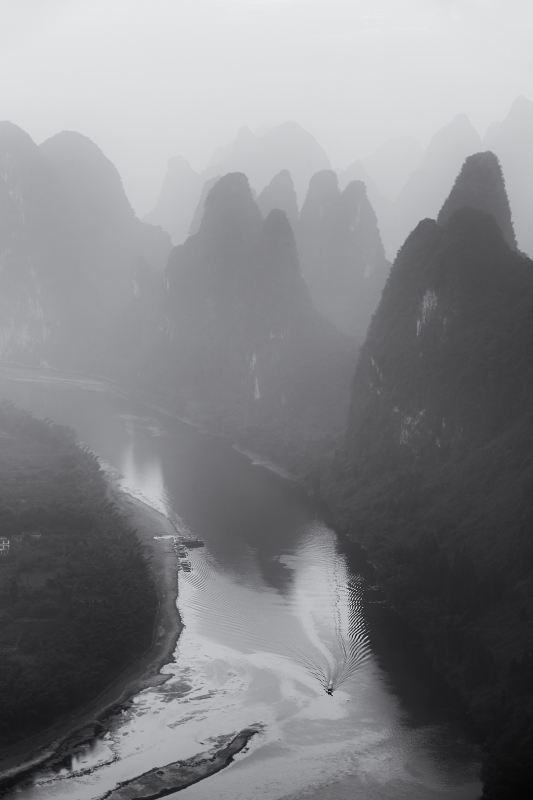 A Foggy Morning In Li River
