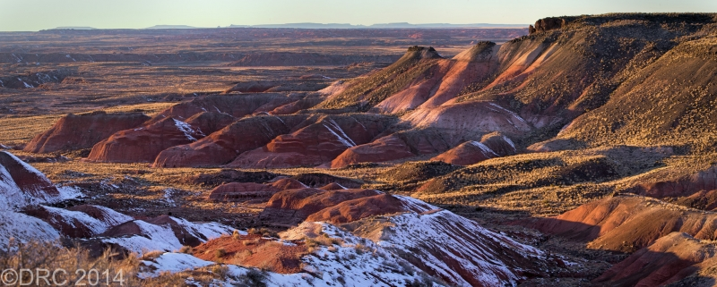 Painted Desert Winter Sunset