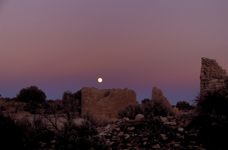 Sunset Moonrise At Hovenweep