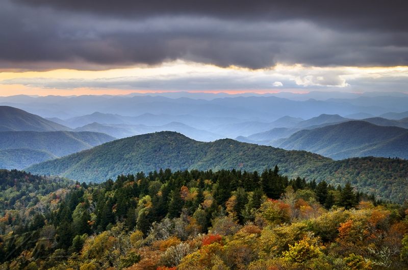 Boundless – Blue Ridge Parkway Autumn Sunset Nc