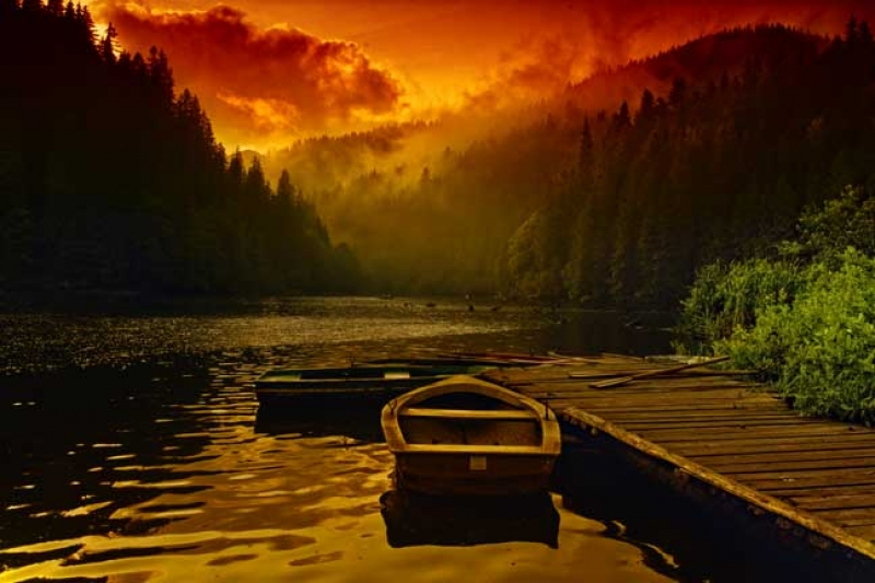 Sunset Over Red Lake
