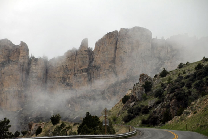 Fog In Tensleep Canyon